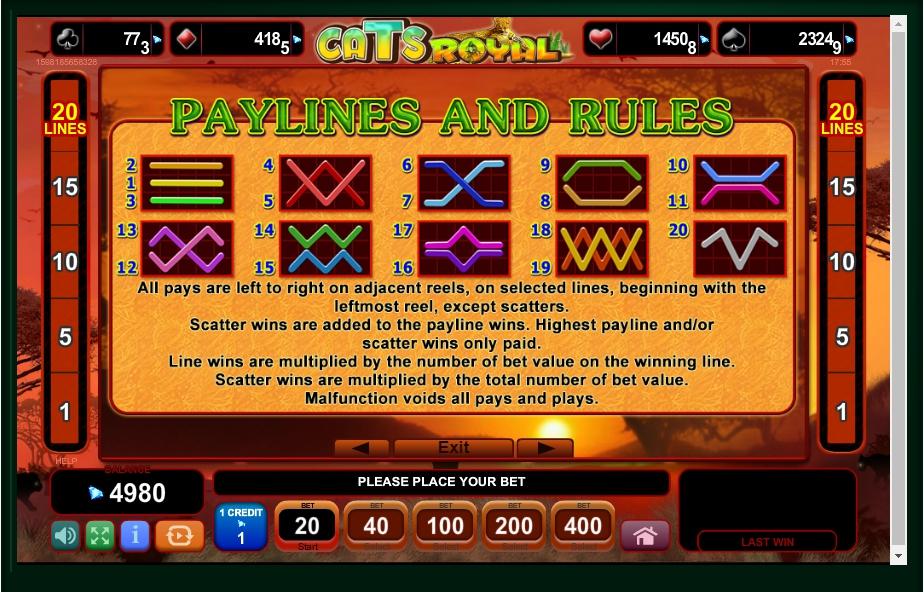 cats royal slot machine detail image 0