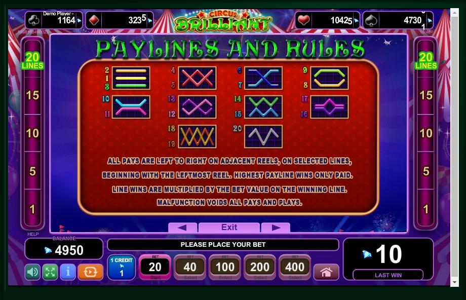 circus brilliant slot machine detail image 0