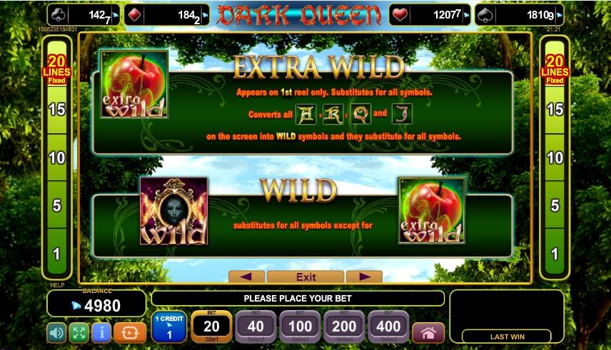 dark queen slot machine detail image 3