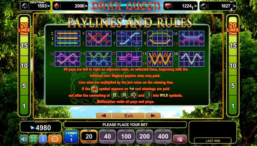 dark queen slot machine detail image 0