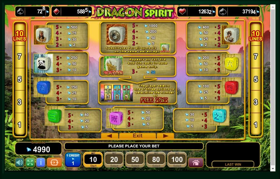 dragon spirit slot machine detail image 4