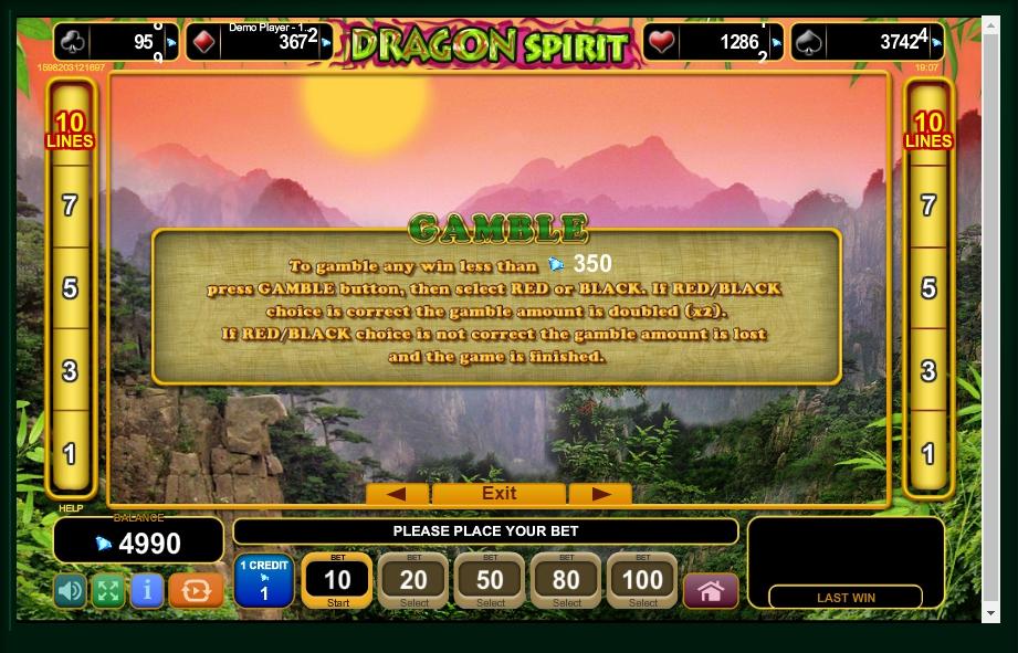 dragon spirit slot machine detail image 2
