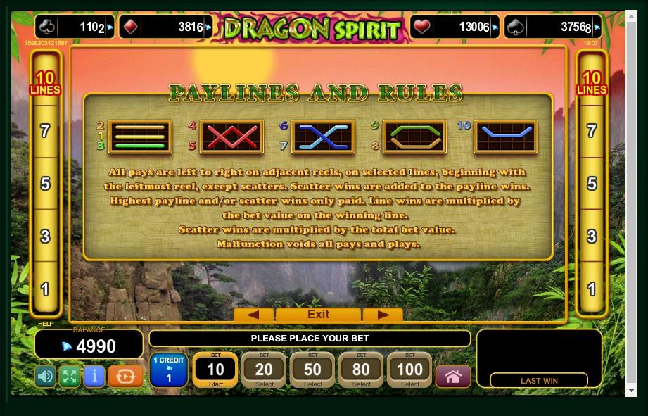 dragon spirit slot machine detail image 0
