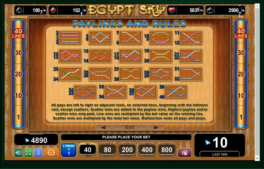 Egyptian Sky Slots