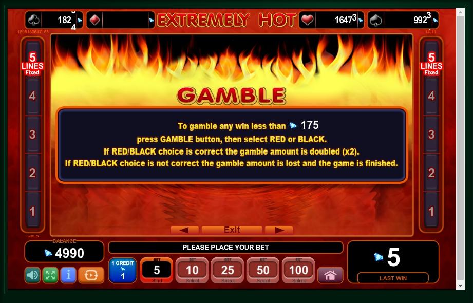 extremely hot slot machine detail image 2