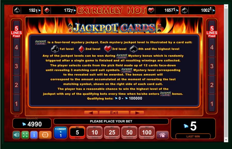 extremely hot slot machine detail image 1