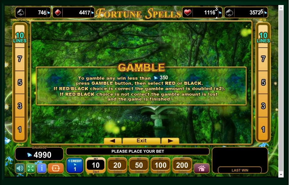 fortune spells slot machine detail image 2