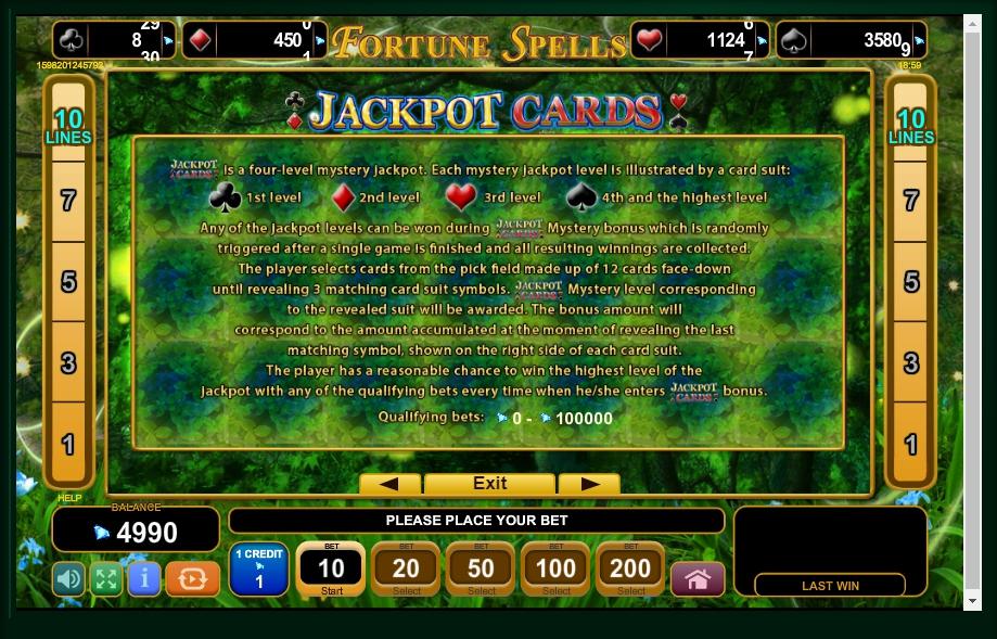 fortune spells slot machine detail image 1