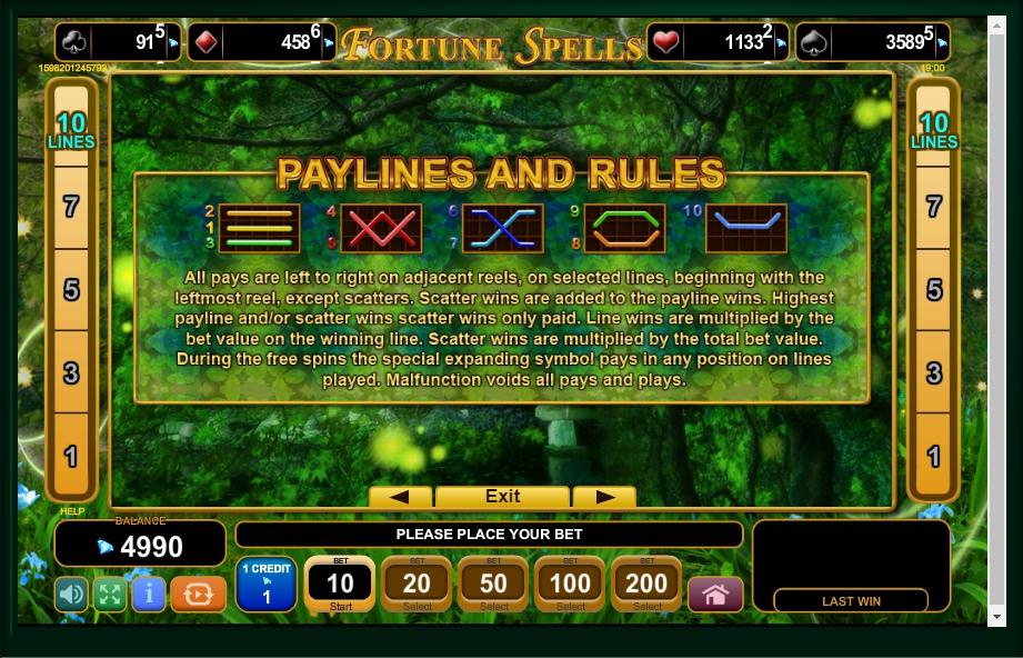 fortune spells slot machine detail image 0