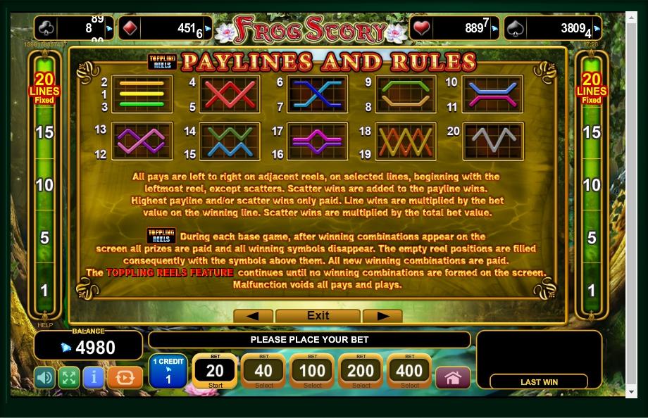 frog story slot machine detail image 0