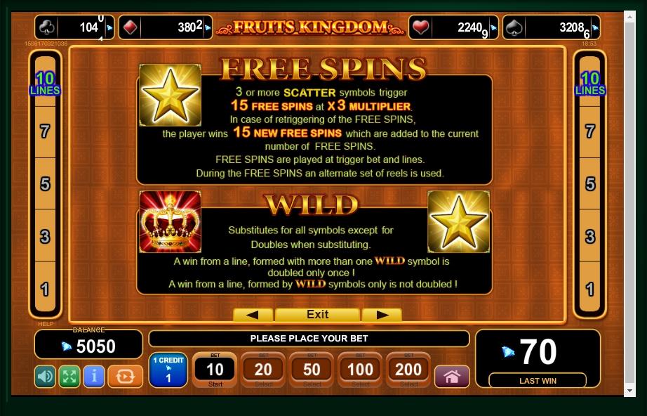 fruits kingdom slot machine detail image 3