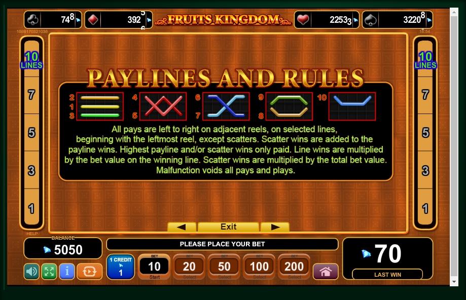 fruits kingdom slot machine detail image 0