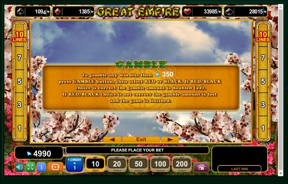 great empire slot machine detail image 2