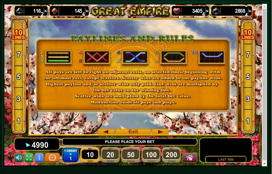 great empire slot machine detail image 0