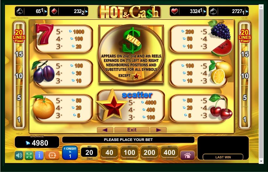 hot & cash slot machine detail image 4