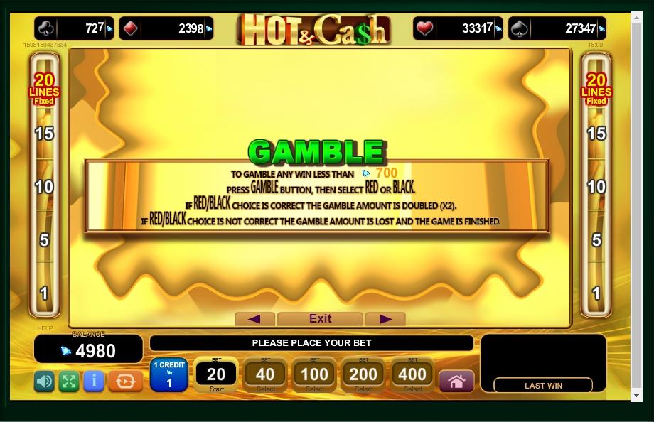hot & cash slot machine detail image 2