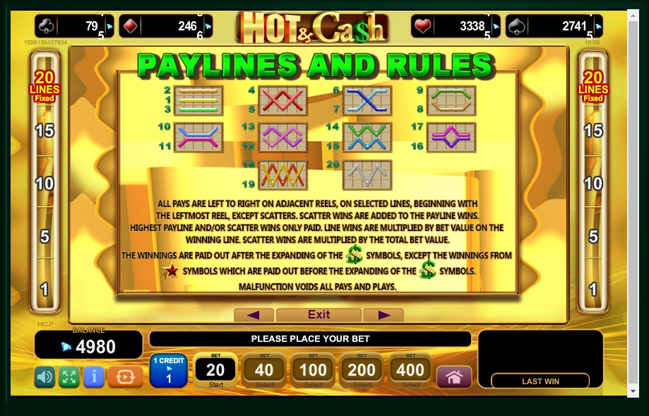 hot & cash slot machine detail image 0
