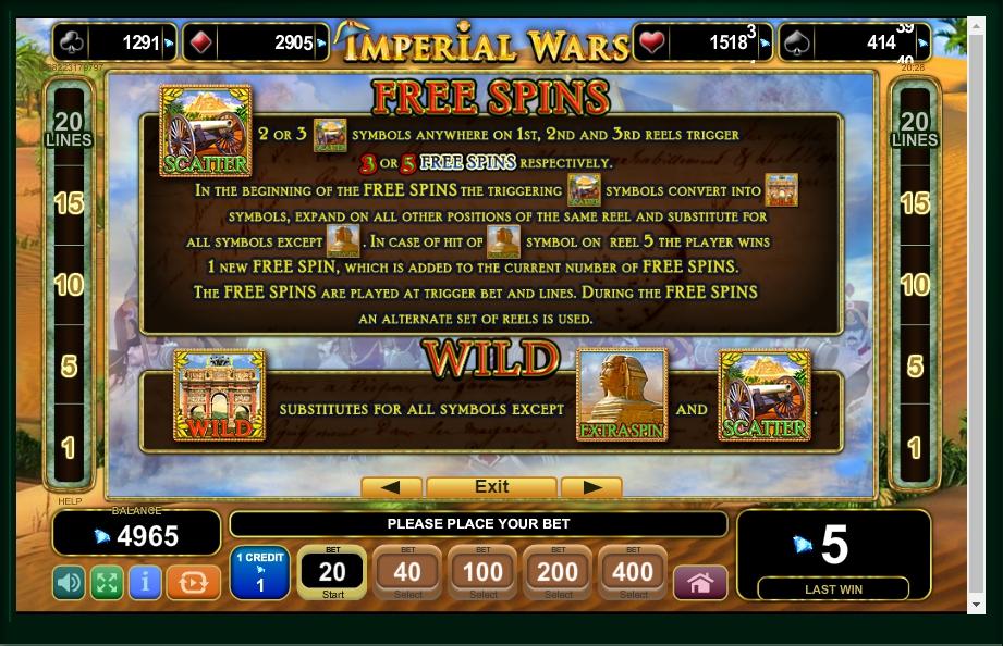 imperial wars slot machine detail image 3