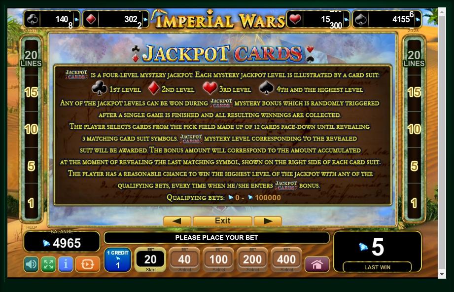 imperial wars slot machine detail image 1