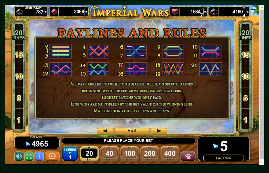 imperial wars slot machine detail image 0