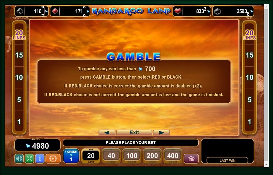 kangaroo land slot machine detail image 2