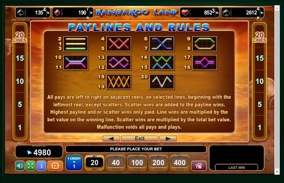 kangaroo land slot machine detail image 0