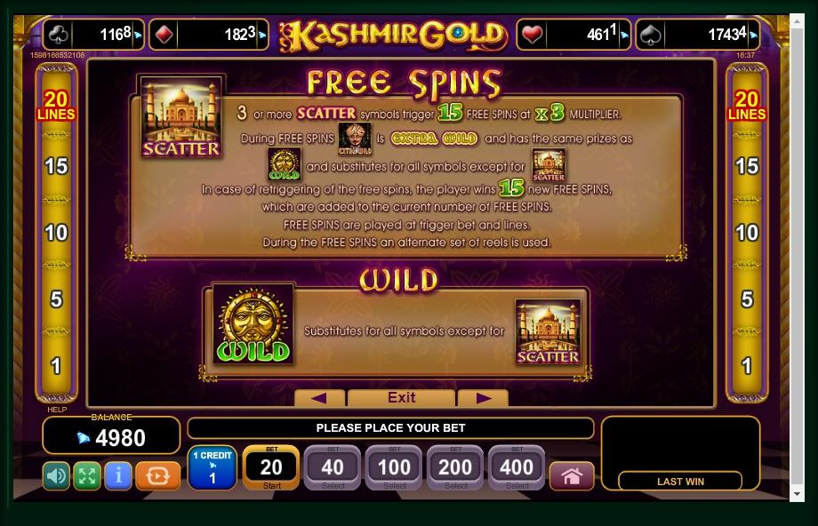 kashmir gold slot machine detail image 3