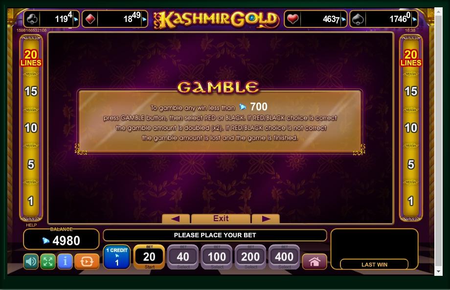 kashmir gold slot machine detail image 2