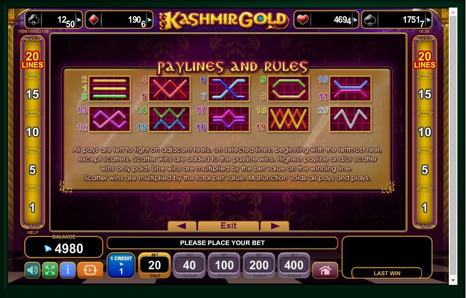 kashmir gold slot machine detail image 0