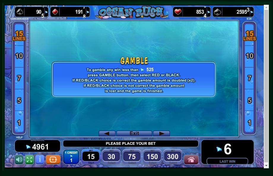 Ocean Rush Slot Machine