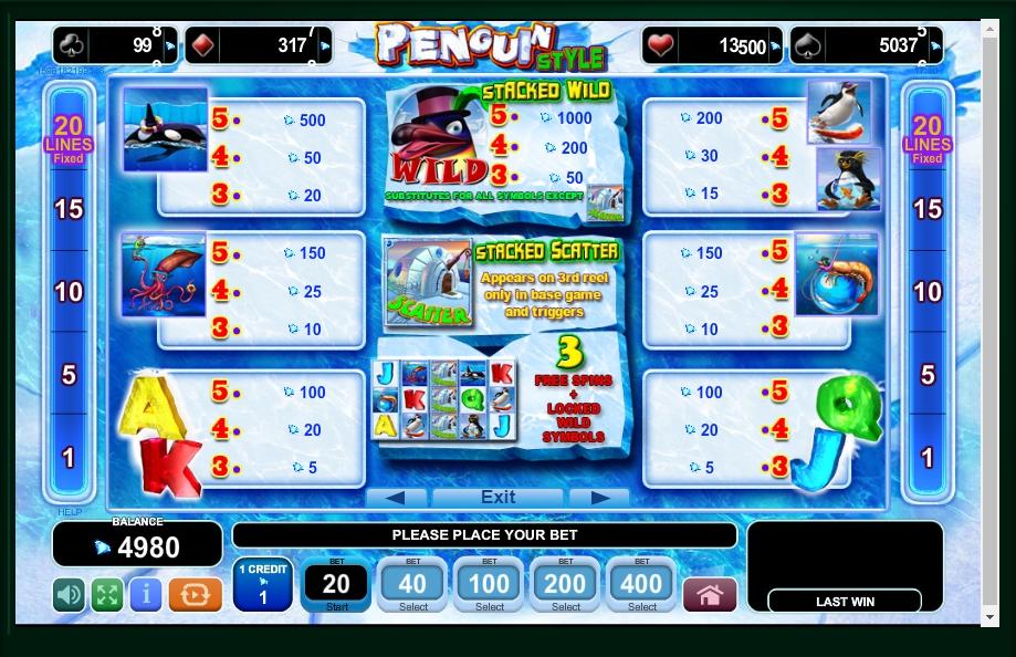 penguin style slot machine detail image 4