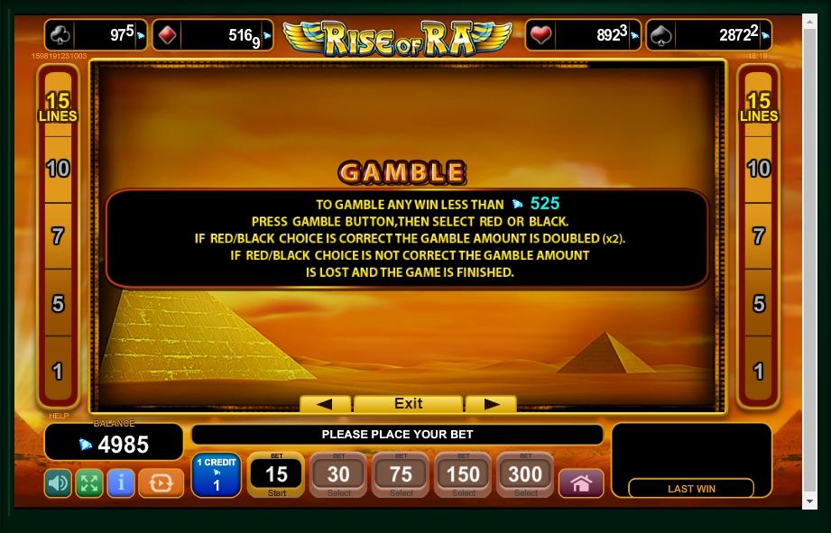 rise of ra slot machine detail image 2