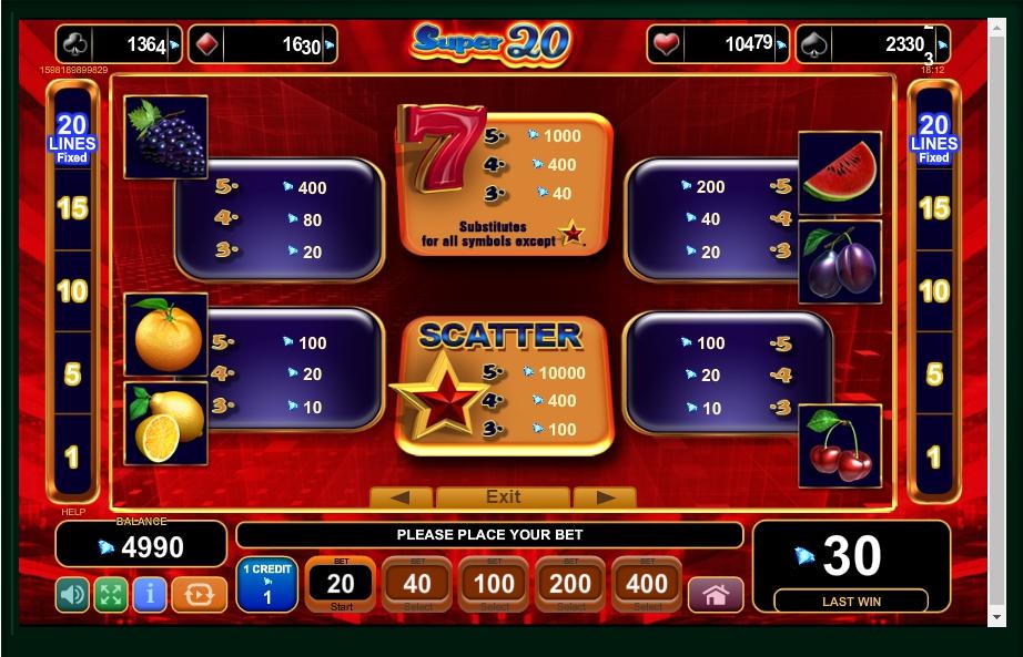 20 Super Hot Slot Machine