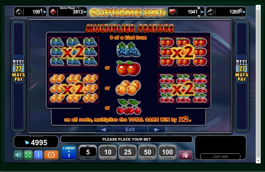 supreme hot slot machine detail image 3