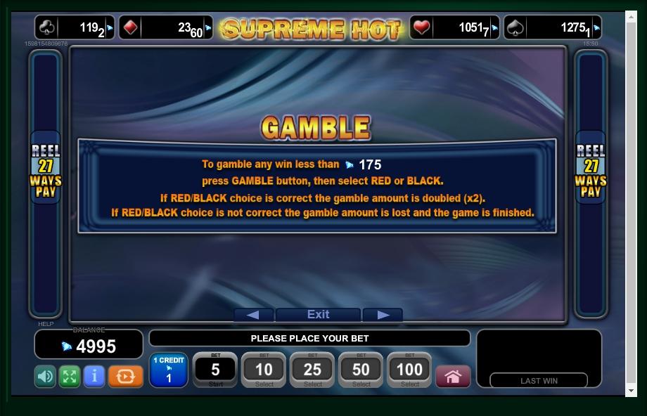 supreme hot slot machine detail image 2