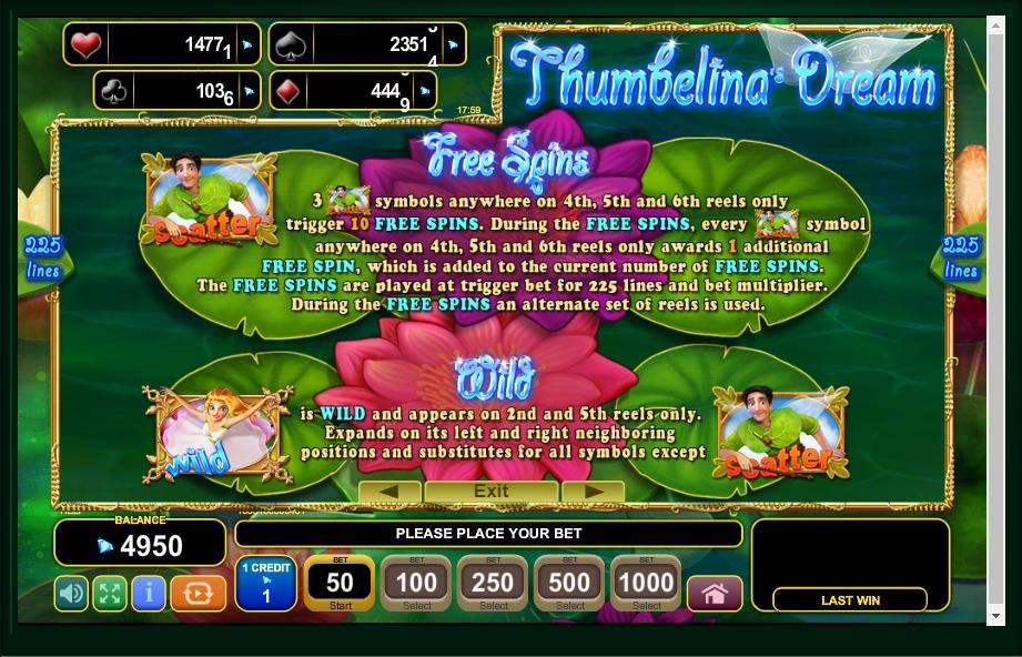 Thumbelinas Dream Slot Machine