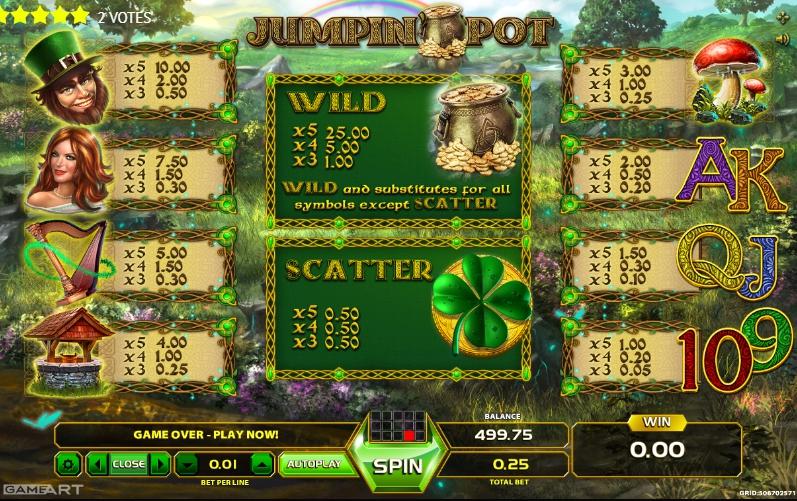Jumpin Pot Slot Machine