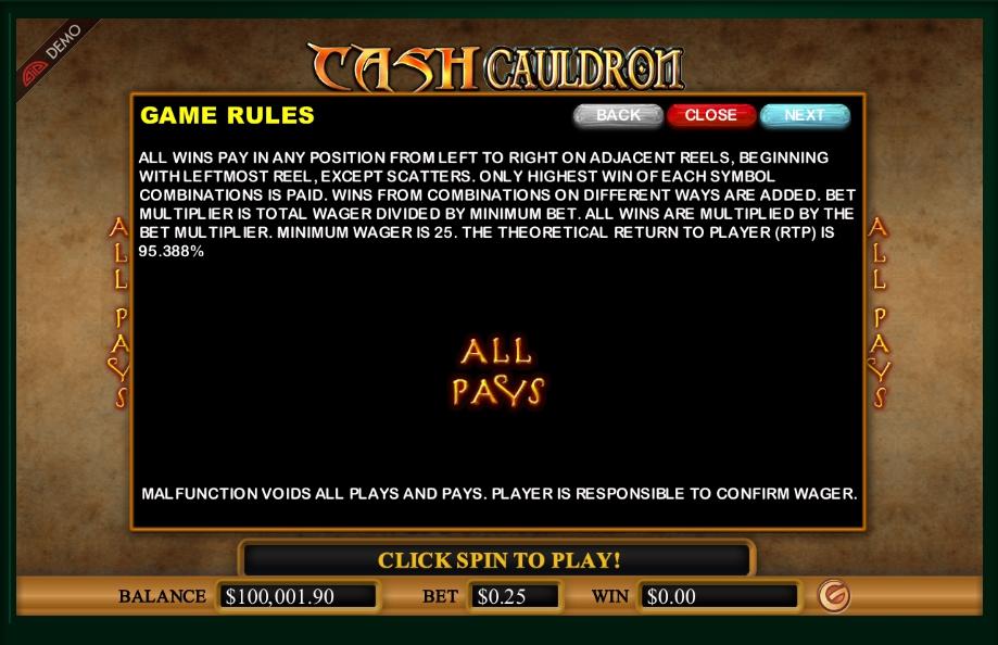 cash cauldron slot machine detail image 7