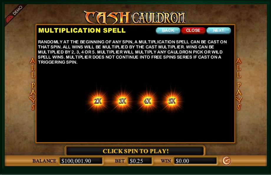 cash cauldron slot machine detail image 3