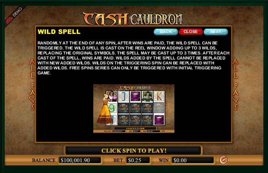 cash cauldron slot machine detail image 2