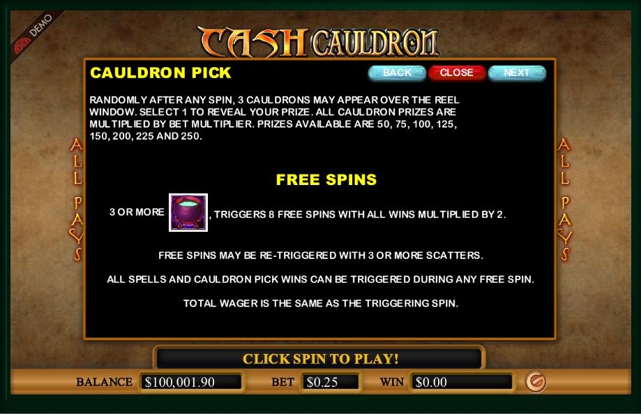 cash cauldron slot machine detail image 1