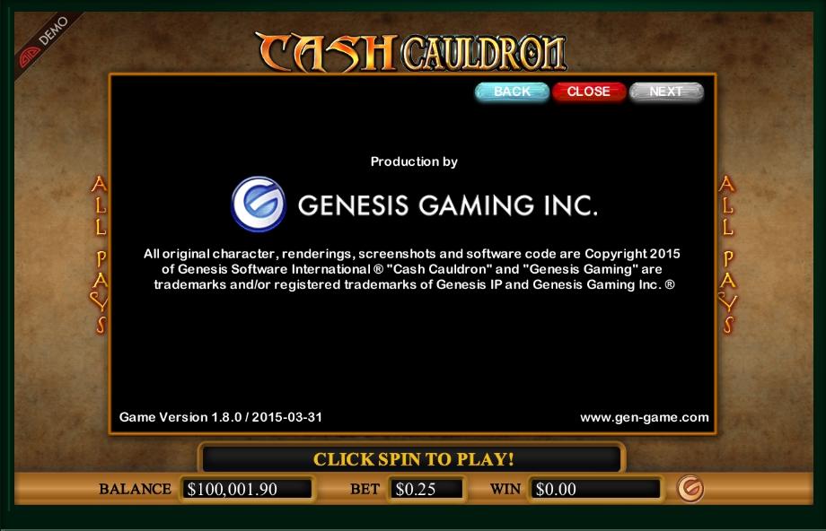 cash cauldron slot machine detail image 0