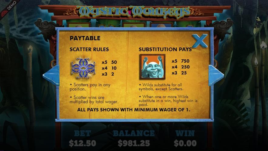 mystic monkeys slot machine detail image 5