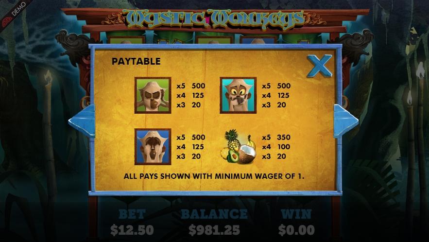 mystic monkeys slot machine detail image 4