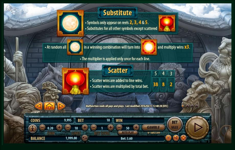12 zodiacs slot machine detail image 3