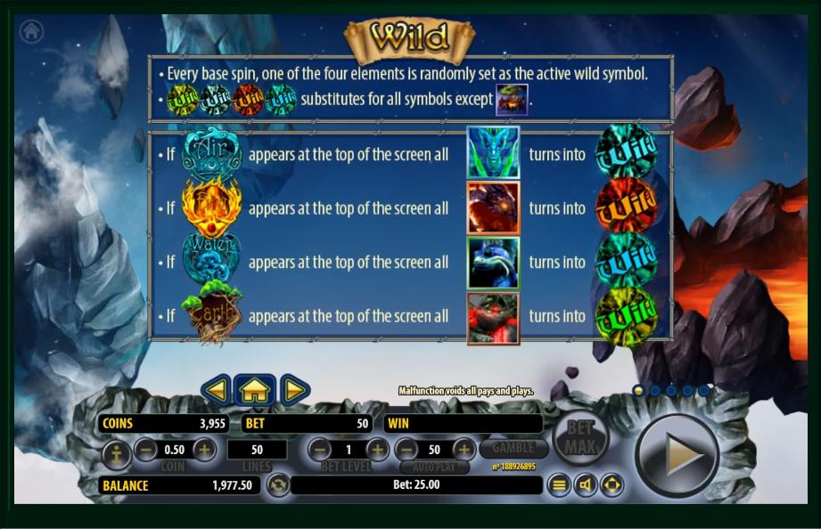 arcane elements slot machine detail image 4
