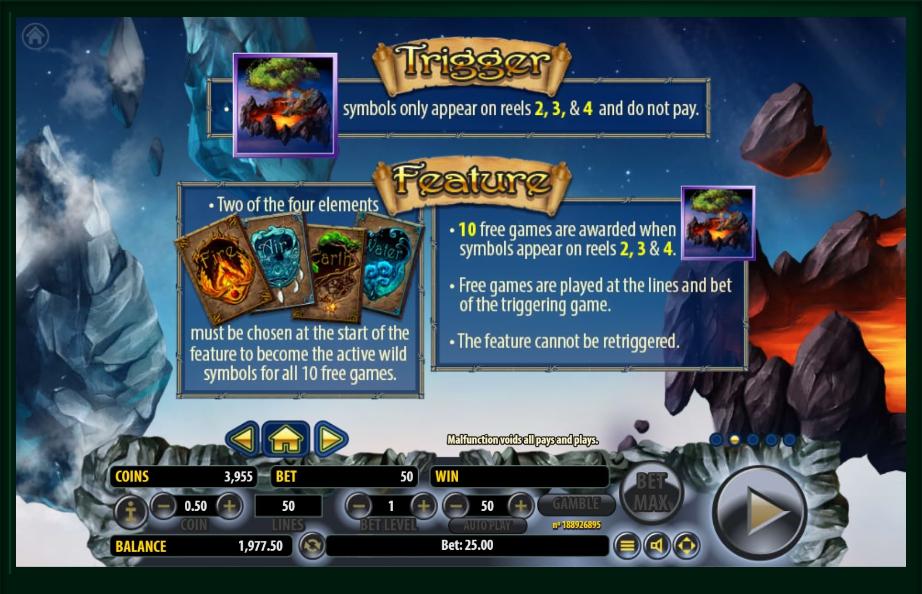 arcane elements slot machine detail image 3