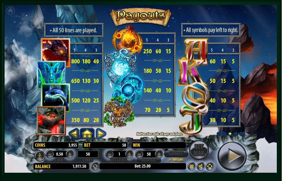 arcane elements slot machine detail image 2