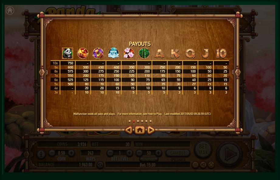panda panda slot machine detail image 4