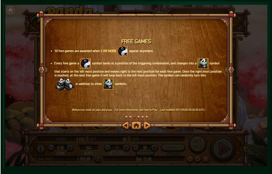 panda panda slot machine detail image 3